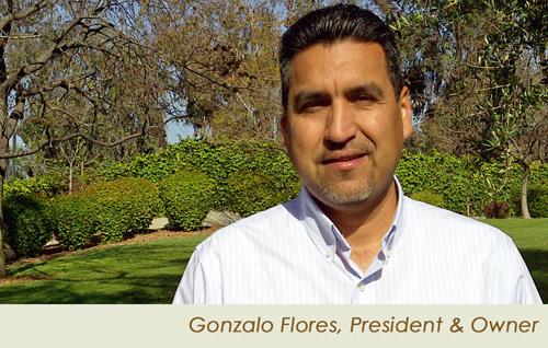 Gonzalo Flores, Linda Vista Landscape Owner and President