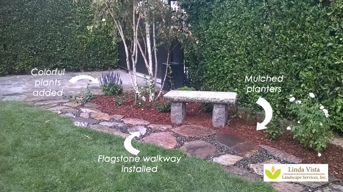 flagstone walkway by Linda Vista Landscape