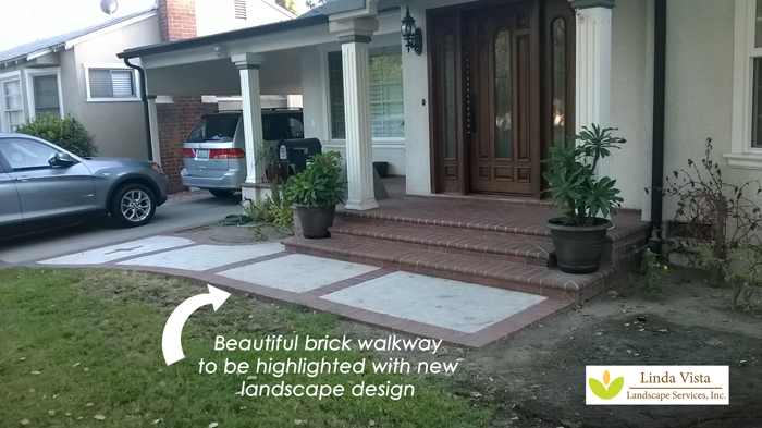 Front walkway lacking curb appeal